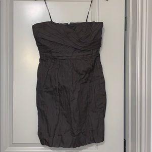 J. Crew grey strapless dress sz 10 w pockets